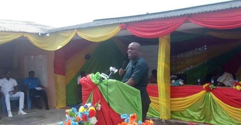 Jomoro MCE, Ernest Kofie addressing the gathering