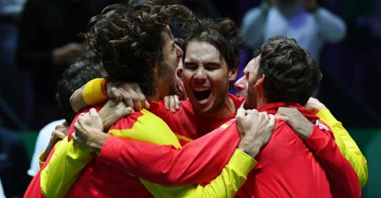 Imperious Nadal clinches Spain's sixth Davis Cup title in Madrid