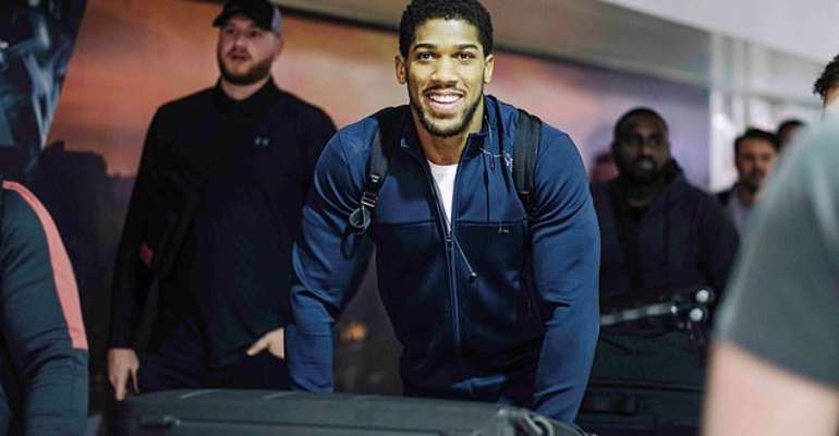 Joshua And His Team Arrive In Saudi Arabia For Andy Ruiz Rematch