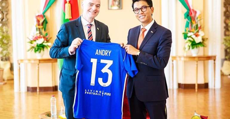 FIFA Boss Begins Tour Of African Countries; Pays Courtesy Call on Madagascar President