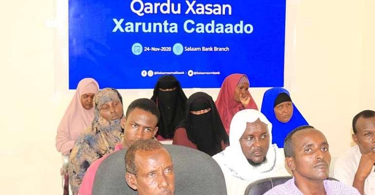 Salaam Somali Bank contributes to Somalia's economic growth through a free microfinance program