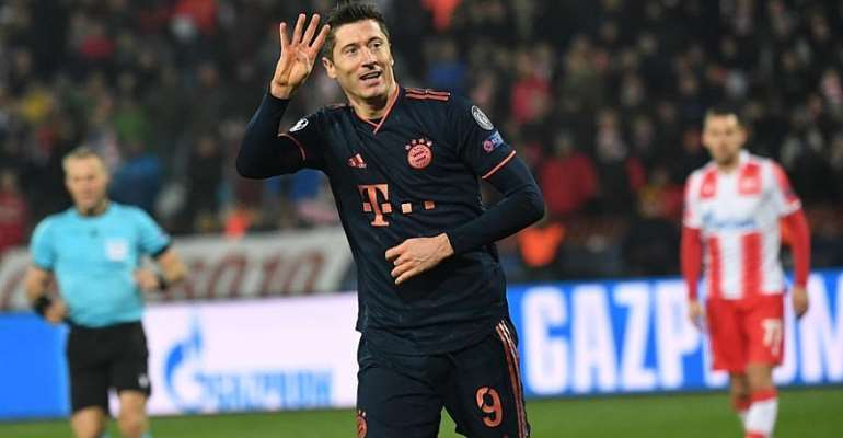 UCL: Lewandowski Makes History With Four Goals In 15 Minutes
