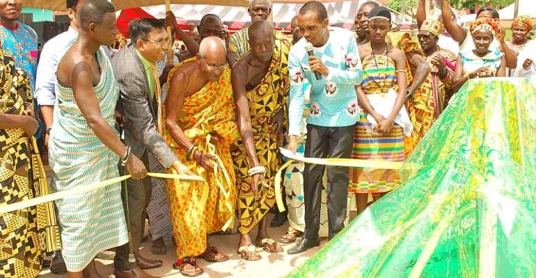 Asa Savings And Loans Construct Borehole For Mampong Benim