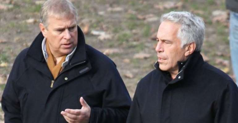 Prince Andrew (right) and the late Jeffrey Epstein, photo credit: BBC