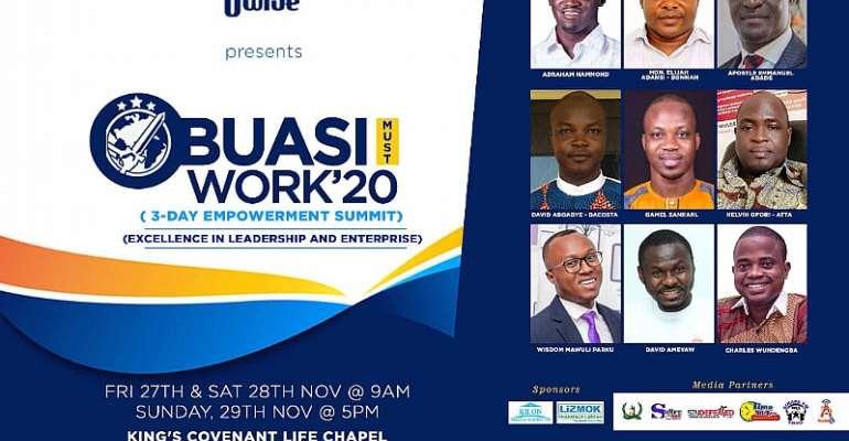Obuasi MCE, Author Gamel Sankarl, Entrepreneur Mawuli Parku, Others To Speak At Obuasi Must Work Summit 2020