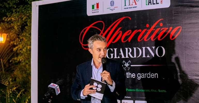 Accra: Italian Embassy Hosts 'Aperitivo in Giardino' To Mark 5th Italian Cuisine Week