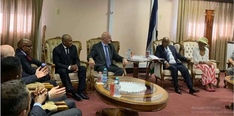 CAF And FIFA Delegation Visit Lesotho Football Association