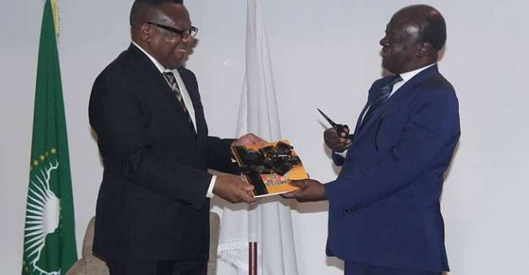 Professor Gyan-Baffour, (right) and Professor Nnadozie (left) with the new report