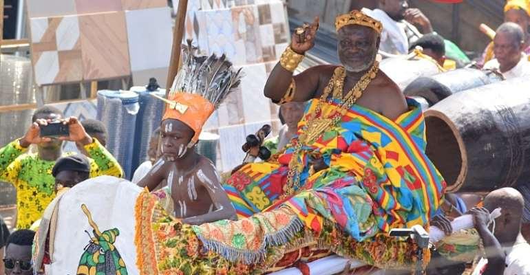 Osabarima Ayeh Kofi in his palaquin
