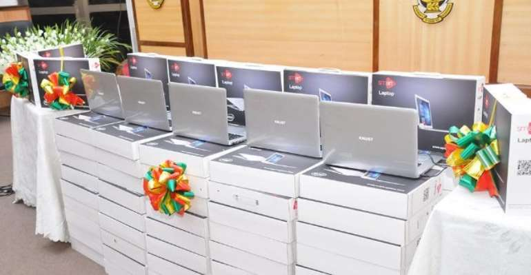 KNUST donates 560 laptop computers to less privileged schools