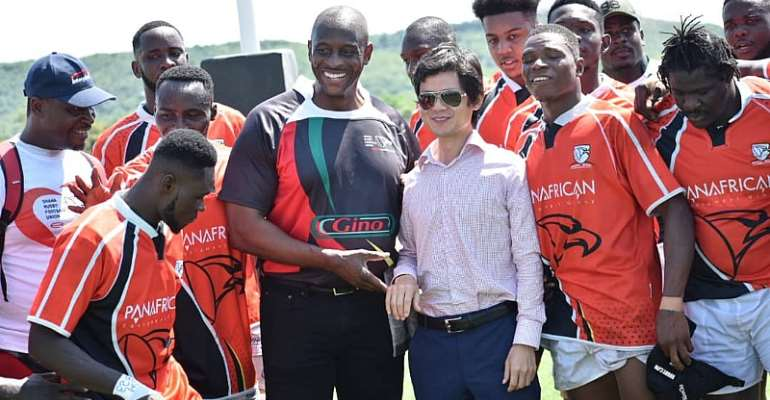 Ghana Rugby Eagles Lift Victory And Twyford MD In Appreciation
