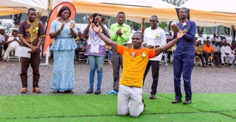 Tsawoe Innocent Kofi beat 41 finalists to emerge victorious.