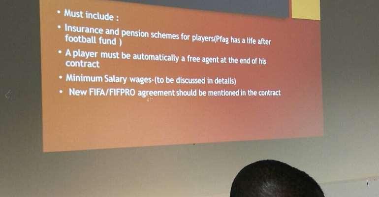 Ex-Ghana Midfielder Yusif Chibsah Makes Presentation On Behalf Of PFAG At Ghana FA Seminar