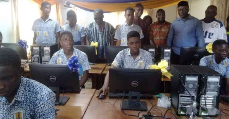 Suhum MP Assists SUTESCO With Computers