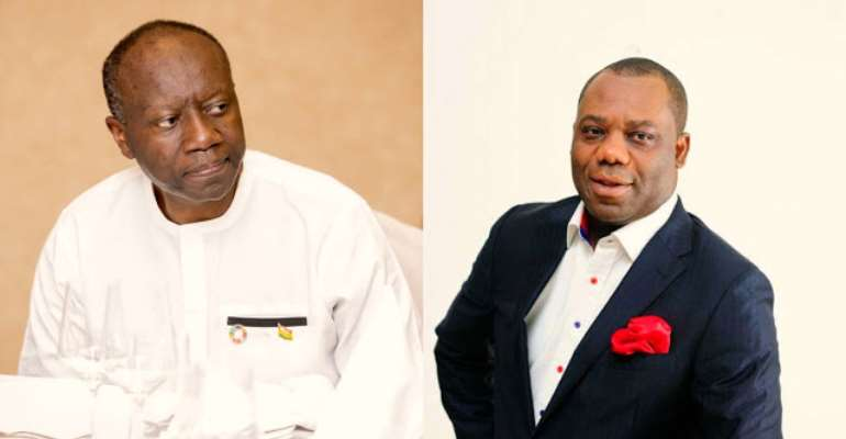 The Finance Minister, Ken Ofori Atta and Minister of Education, Matthew Opoku Prempeh