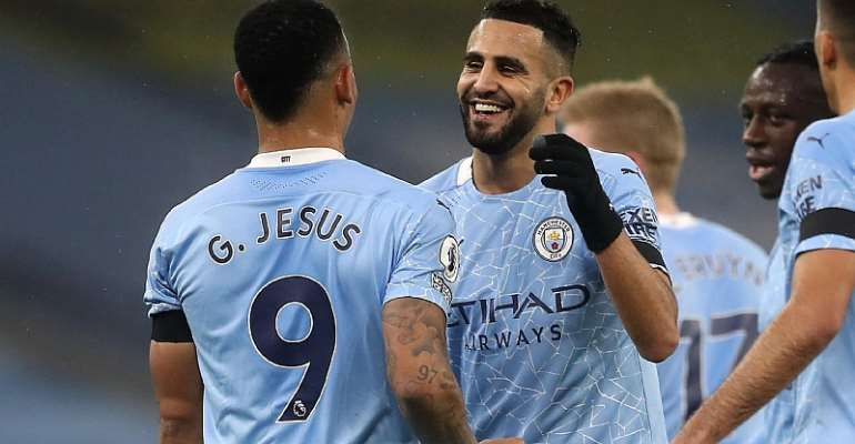 PL: Riyad Mahrez Nets Hat-Trick As Manchester City Cruise Past Burnley