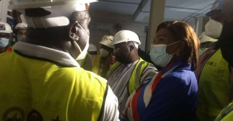 Accra: Pokuase Bulk Supply Point 84% Complete---Engineers Brief Dr. Bawumia