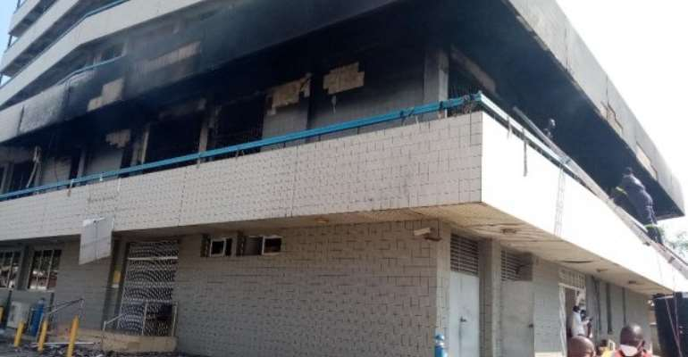 UPDATE: GCB Bank Fire Started From Storeroom