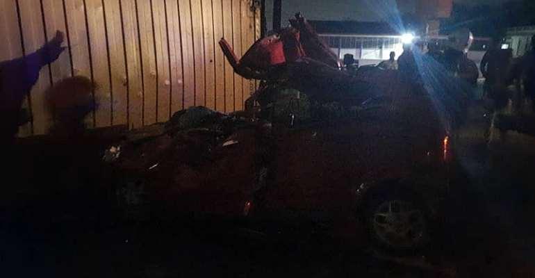 Tragic! Falling Cocoa Container Kills Two In Takoradi