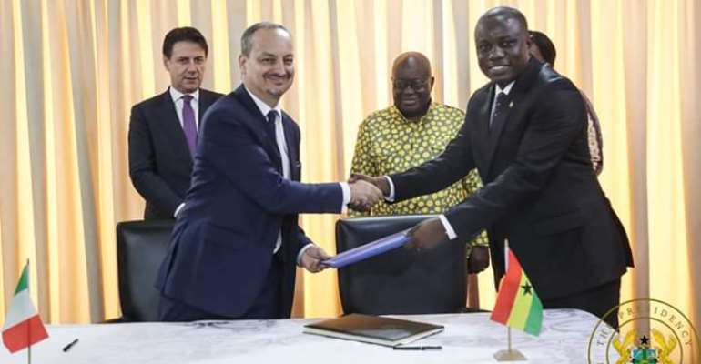 Ghana, Italy Sign Pact On Defense Co-Operation