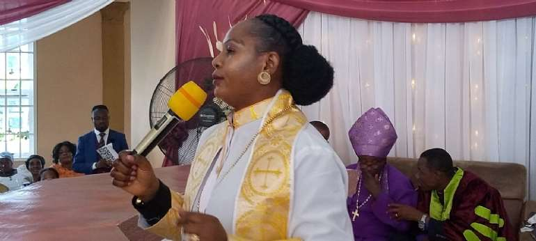 Florence Ampofo (Mrs.) of The Divine Crusade International Temple at Pakyi Number One