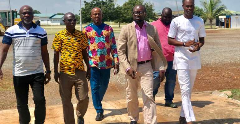 GFA President, Exco Members Tour Ghanaman Soccer Of Excellence At Prampram