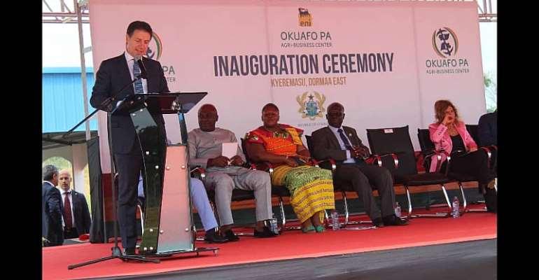 Bono Region: ENI, Ghana gov't inaugurate Okuafo Pa Agri-Business Centre
