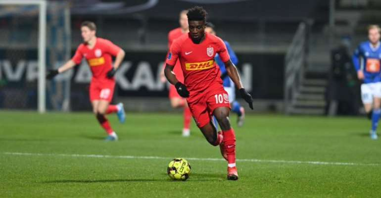 In-Form Mohammed Kudus Scores But Sees Red As FC Nordsjælland Draw Against Lyngby