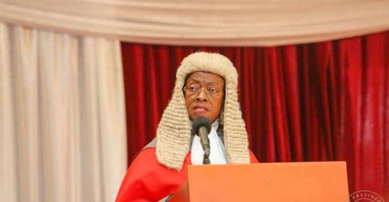 Chief Justice Sophia Akuffo, photo credit: Ghana media