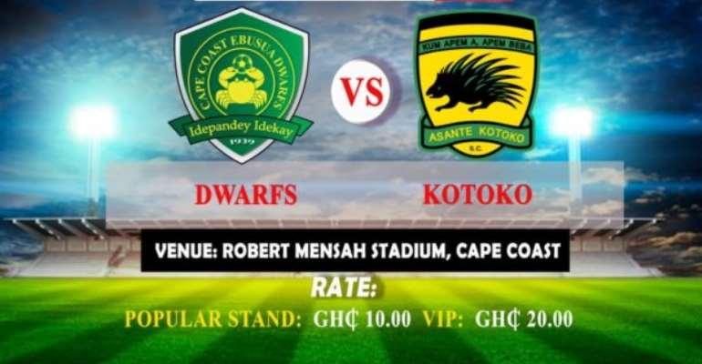Ebusua Dwarfs To Engage Asante Kotoko In Friendly Match On December 6