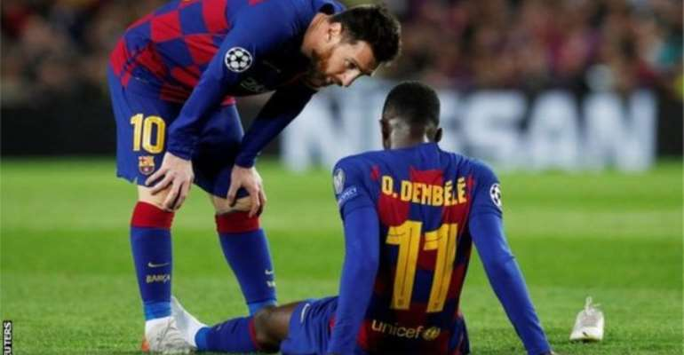 Ousmane Dembele: Barcelona Winger Out for 10 Weeks With Thigh Injury