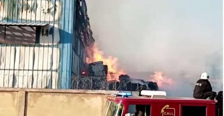 Fire Destroys Tissue Paper Factory In Budumburam