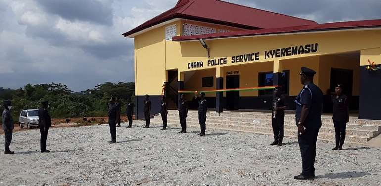 Dormaa East: Inauguration of Kyeremasu modern Police Station