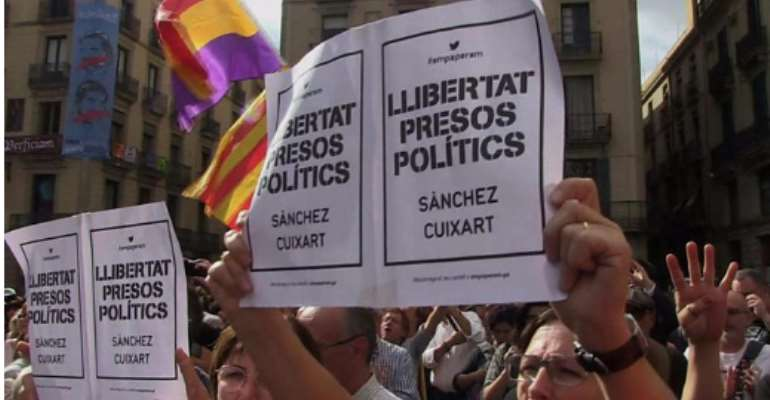 Catalan Draws Wild Protest Against Spain Jail Moves