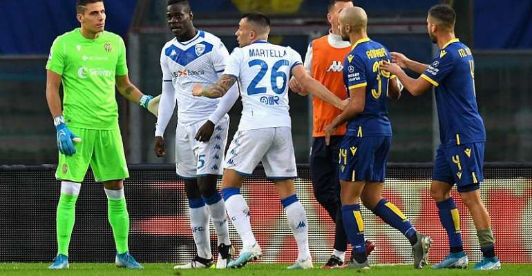 Balotelli Threatens To Leave Pitch After Racist Abuse At Verona