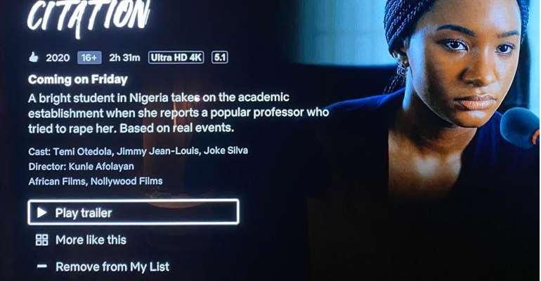Billionaire Heiress, Temi Otedola, Shines As Kunle Afolayan Premiers New Movie, Citation on Netflix.