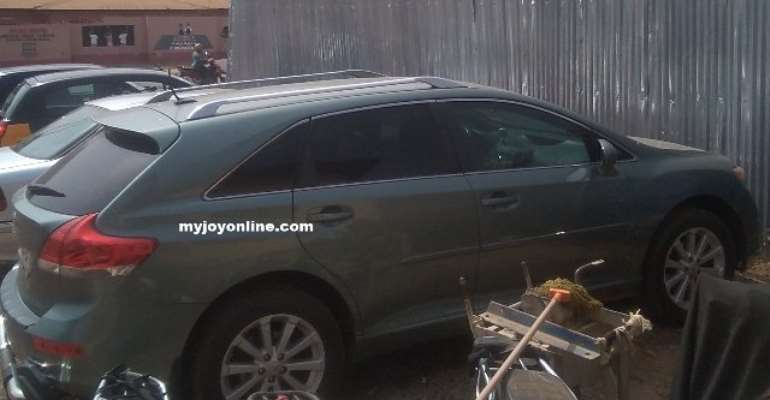 The Toyota Venza vehicle in which the children were found dead.