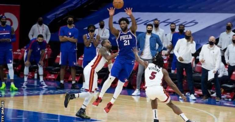 Joel Embiid scored 35 points in the second half