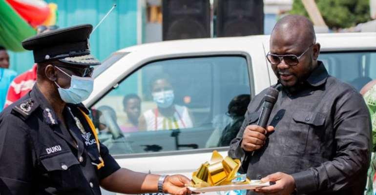 Bantama MP Asenso Boakye donates vehicles to Police