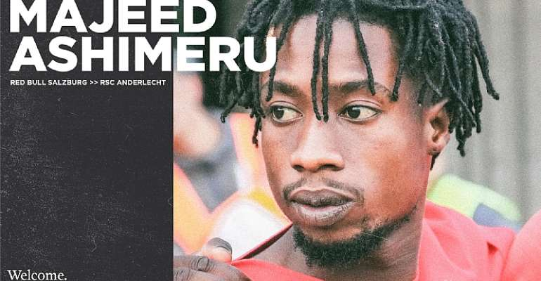 OFFICIAL: Ghana midfielder Majeed Ashimeru joins Anderlecht on loan from Salzburg