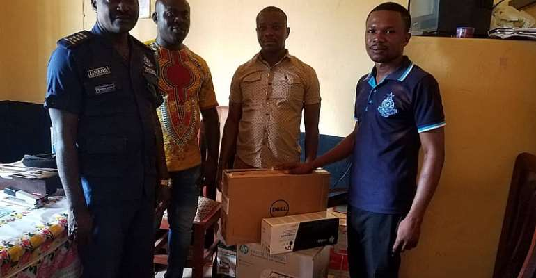 Prestea Huni-Valley MP Donates Desktop Computer, Printer To Bogoso Police