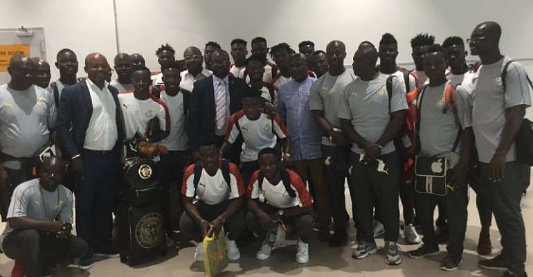 CAF U-23 AFCON: GFA President, Council Members See Off Black Meteors