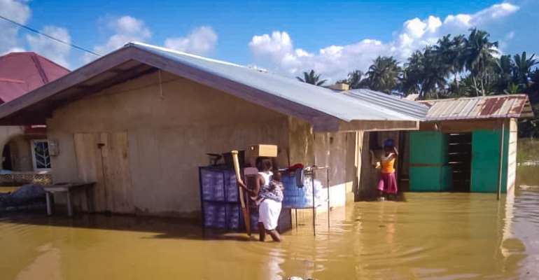 W/R: Over 150 People Affected By River Ankobra Flood In Prestea