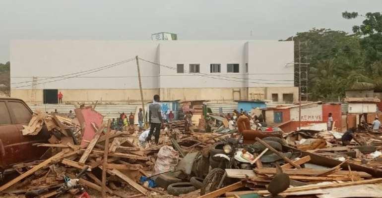 Over 100 Illegal Structures Demolished At Kawukudi
