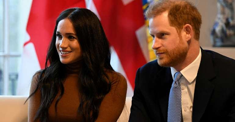 Prince Harry and his wife Meghan visit Canada House in London on January 7, 2020. © Daniel Leal-Olivas, Reuters