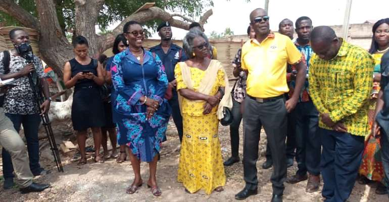 MTN Inspects Works On Dansoman Community Library Project