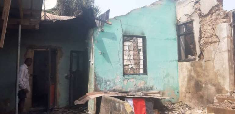 Fire Destroys 8 Rooms, Shrine At Anloga