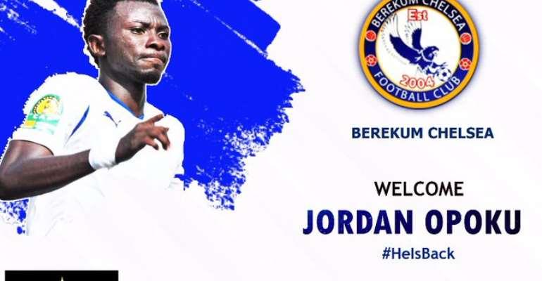 Berekum Chelsea Sign 'Evergreen' Jordan Opoku