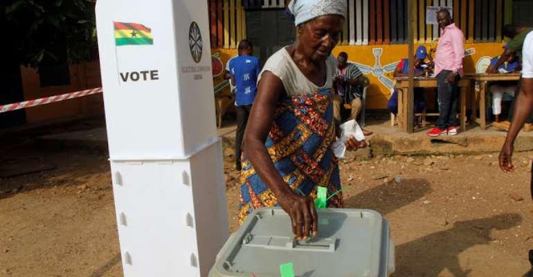A woman votes in Ghana, photo credit: Ghana media