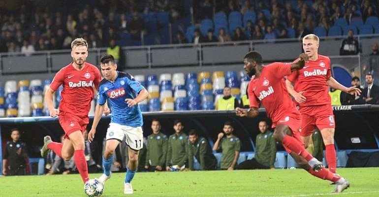 UCL: Erratic Napoli Held By Salzburg As Haaland Strikes Again